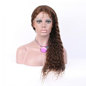 China Top Quality  8-26 Inches #4 Super Wave Human Hair Full Lace Wigs 130% density on sale