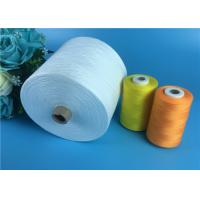 100% Polyester Yarn 30s/2 Raw White Polyester Spun Yarns For Garments Sewing
