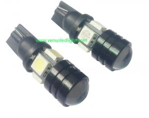 China Car Led Lights T10 5050 4smd + 1.5w Lens W5W High Power Led Indication Signal Lights on sale