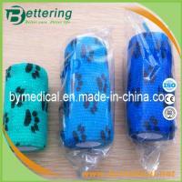 Paw printing animal cohesive bandage pet bandage veterinary self adhesive bandage