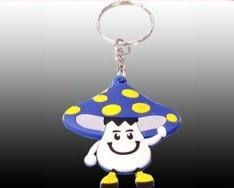 China customized silicone rubber soft pvc keychain with colorful for lighting and advertisment supplier