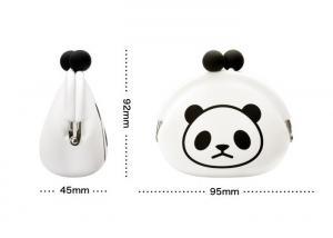 China Womens Silicone Coin Purse Pochi Panda , Silk Printed Customized Logo on sale