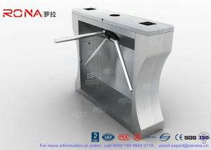China Automation RFID Stainless Steel Turnstile Access Control For Office Building on sale