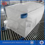Big bag square type pp big bag 5:1 1000kg with bule belt white pp bulk container bag