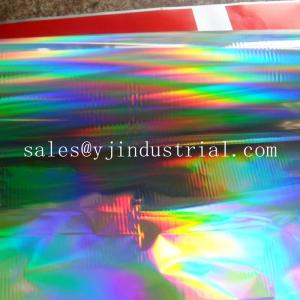 China High quality PET holographic lamiantion film &transfer film with seamless rainbow pattern on sale