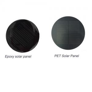 China PET Laminating Mini Solar Panels 1w 5v Custom Circular / Round Shape IP67 Rated Cables on sale
