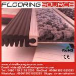 Rollo-para arriba fácil del piso de la conexión de goma de aluminio resistente de la estera para la entrada de la seguridad