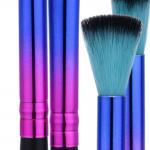 Synthenic Rainbow Full Makeup Brush Set 22g Portable 14.5x4x0.8 Cm Size