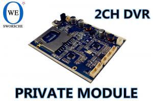 China HD MINI DVR MODULE 2CH HD MINI DVR BOARD MPEG4 COMPRESSION 128GB SD CARD on sale
