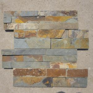 China natural stacked slate veneer for wall cladding on sale