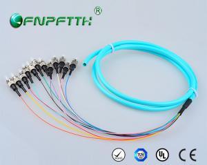 China OM3 モード 12Core タイプ繊維光学のピグテール、ST のピグテールのコネクター SC、LC、FC on sale