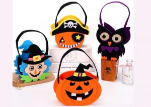 China Tearproof Halloween Treat Bags , Diy Halloween Candy Bags Safe Material supplier
