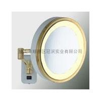China Wall Mount one Face Lighted 2x,3x,5x Brass Magnifying Mirror on sale