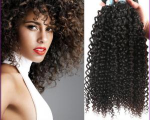 China Long Curly Human Hair Extensions No Shedding Fade With Natural Hair Line on sale