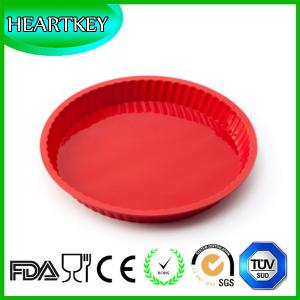 China Round Silicone Baking Dishes Pizza Pans Wedding Cake Pizza Pie Bread Loaf Baking Mold on sale