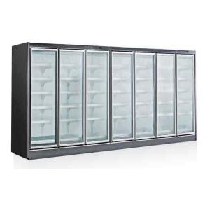 China 110V 4000L 5 Glass Door Display Freezer For Ice Cream Silver Color on sale