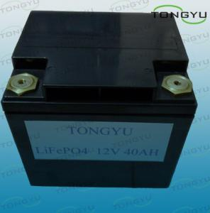 China Portable LiFePO4 12v Battery Pack for Solar Systems , 40Ah Lightweight Lithium Battery on sale