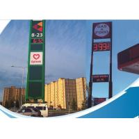 China Single Color LED Fuel Price Signs / Mobile Electronic Message Boards steel Cabinet on sale