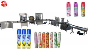 China Spray Can Air Freshener Filling Machine , Pneumatic Liquid Filling Equipment on sale