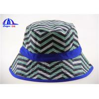China Allover Printing Logo Washing Bucket Hat and Caps for Women , Breathable and Beautiful on sale