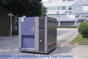 China 3 Zone Hot And Cold Thermal Shock Temperature Chamber For Auto Electronics Testing on sale