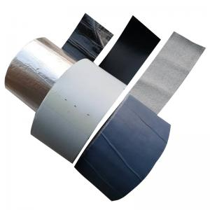 China aluminum foil self adhesive bitumen window tape flashing Self adhesive bitumen waterproofing flashing tape for steel on sale
