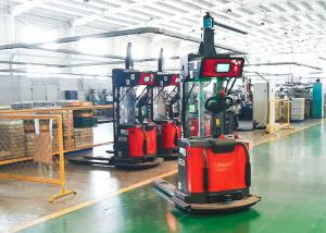 China Laser Guided Unmanned Forklift , AGV Pallet Truck For Loading Materials on sale