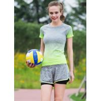 China Side Stripe Womens Sports Clothing Suits , Womens Gym Apparel Stretch Fabrics on sale