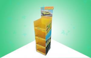 China Strong Stable 4 Shelf POS Cardboard Displays , pop display racks on sale