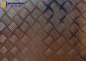 China Big Five Bar Checkered 6061 Aluminum Plate 0.6mm - 10mm Thickness High Hardness on sale