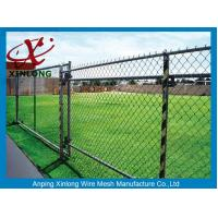 High Security Decorative Chain Link Fence Low Carbon Iron Wire Material