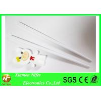 Custom White Kids Learning Chopsticks Silicone Kitchenware Unbreakable and Flexible