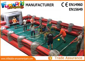 China Professional Giant Inflatable Foosball Field Blue / Green / Yellow on sale
