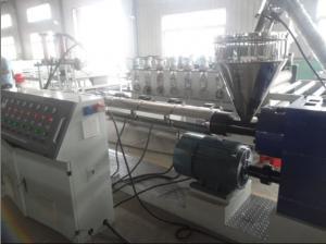 China PET PP PE Recycling Plastic Pellet Making Machine / Twin Screw Extruder Granulating Machine on sale