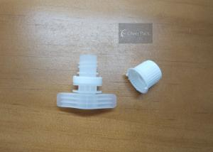 China 9.6mm Diameter White Pour Spout Caps For Baby Pouch Packaging on sale