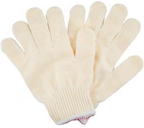 China Industrial Cotton Knitted Gloves White PPE Polyester String 24cm Length on sale
