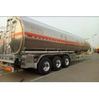 Aluminum Alloy Hazardous Chemical Tank Semi Trailer 42 - 50 Cubic Lightweight
