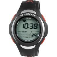 China Waterproof Running Digital Calorie Pedometer Watches PU Strap on sale