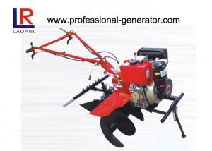 China Paddy Land Mini Tiller Cultivator , 35cm Ridging Height Small Garden Rototiller on sale
