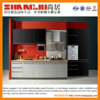China new modern two colors kitchen cabinets with stove island gorgeous style on sale