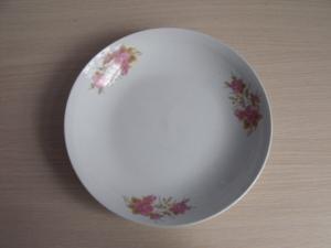 China 7.5 Cut Decal Printed Ceramic Dinner Plates with Floral Design,Microwave/Dishwasher Safe on sale