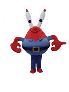 China Anime mascot costume disney Crab cartoon mascot cartoon mascot costumes on sale