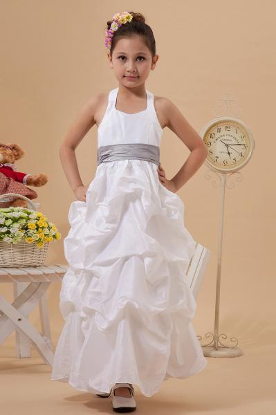611f9d931b3 Princess Halter Taffeta Ruffle Unique Flower Girl Dresses for sale ...