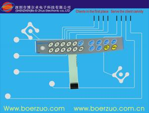 China Metal Dome Tactile Membrane Switch , Female Connector 3M Adhesive on sale