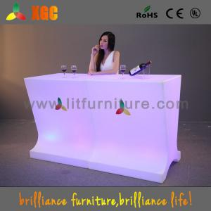 China 2016 LED Glowing Display Table With 16 Colors Changing on sale