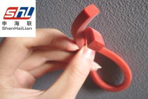 China Red Stable Extruded Silicone Rubber Seal Strip , UV Resistance on sale