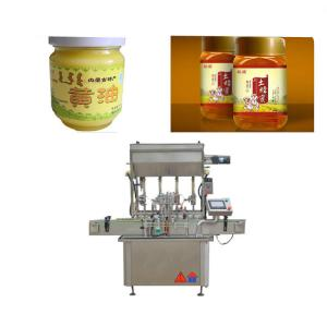 China Touch Screen Honey Filling Machine For Glass Bottle Sauce / Fruit Jam on sale