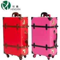Classical Four Wheeled Suitcases LightweightPU Leather Rolling Luggage Laptop Trolley Case