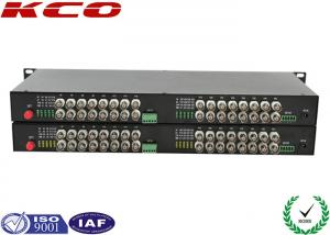 China Video To Fiber Optic Converter 32 Video Ways Rack Mountable Long Distance Point on sale