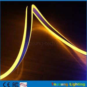 China whole sale 24V double side yellow led neon flexible strip for outdoor supplier
